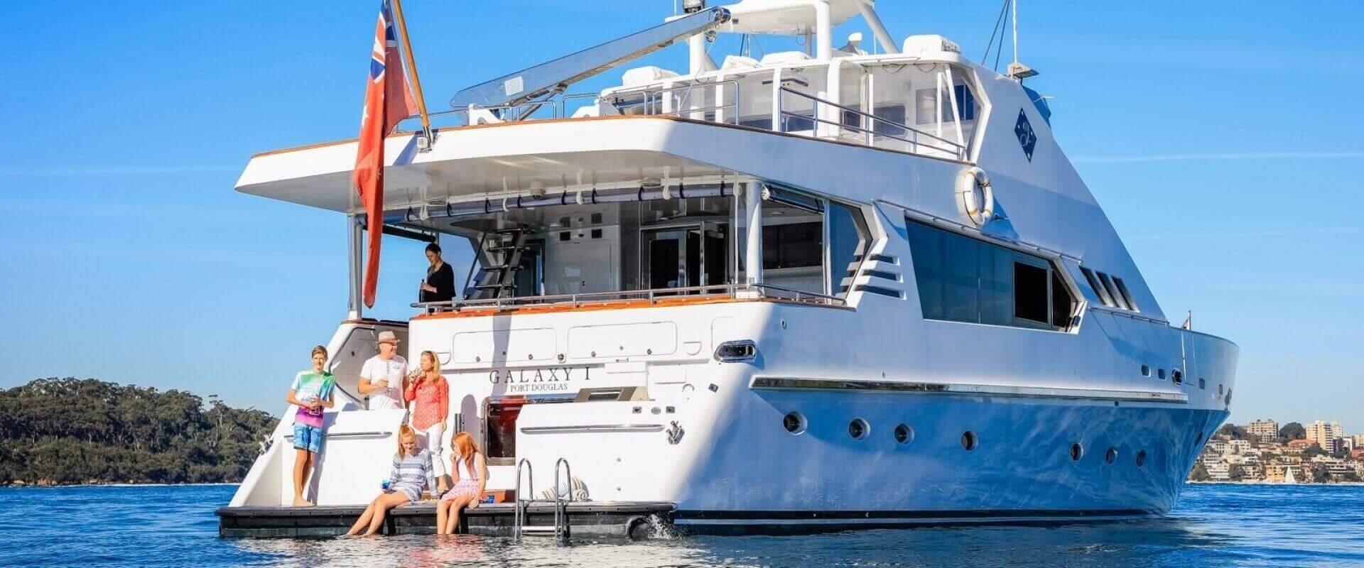 Galaxy I charter yacht. © Salty Dingo 2017